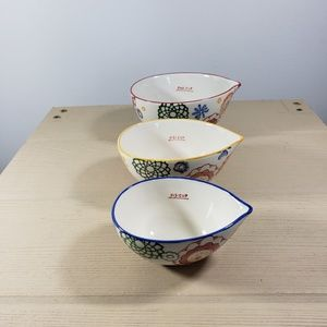 Pier 1 Imports Set of 3 Stoneware Measuring Cups